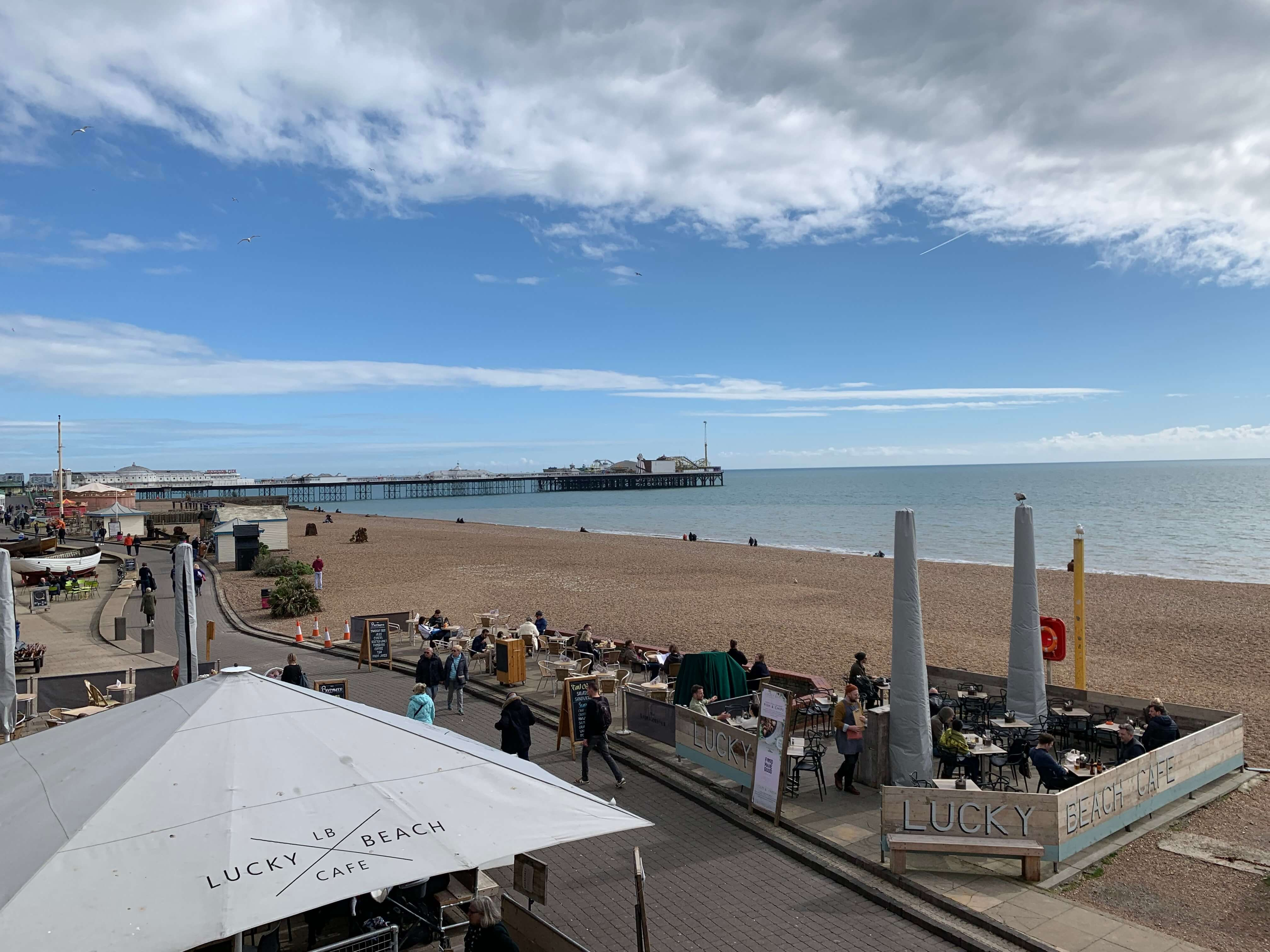 Brighton beach with the pier in the background