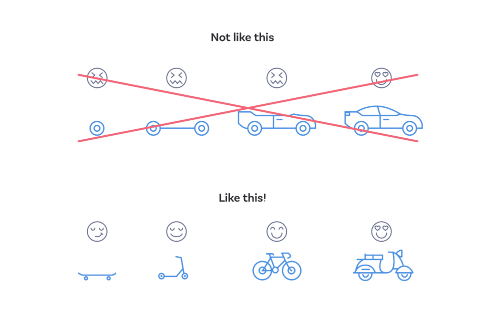 The diagram that's often used as an analogy for 'minimum viable product' could also be used as an analogy for 'minimum viable experience'